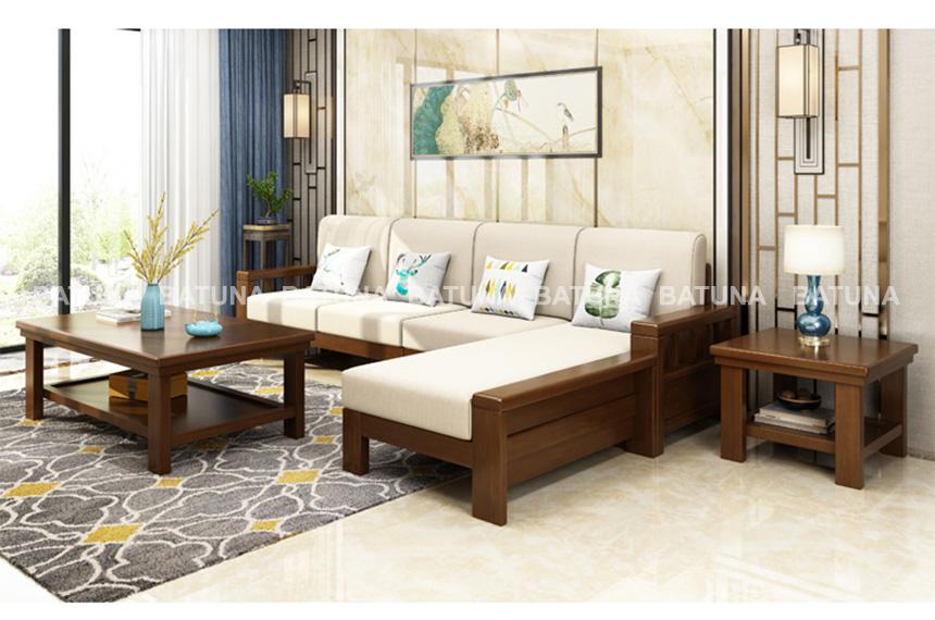 Đệm ghế gỗ phòng khách sang trọng