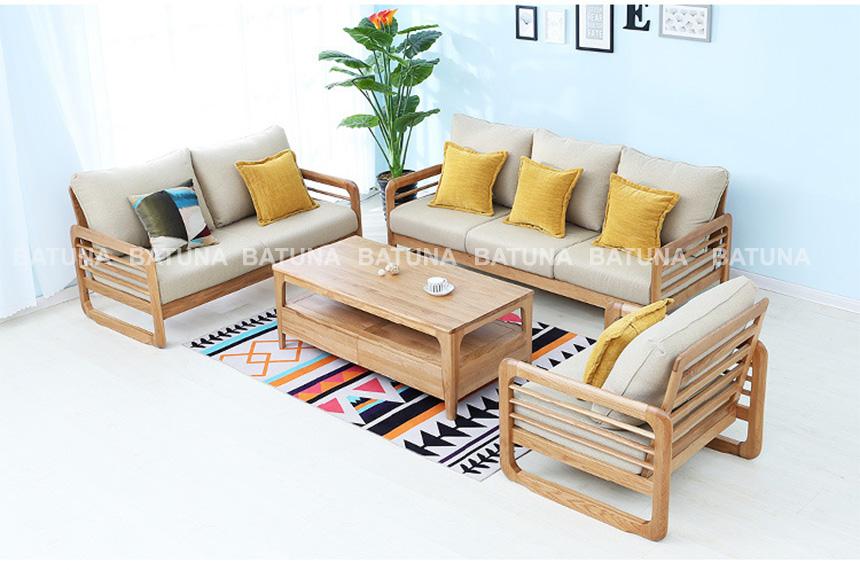Làm đệm ghế sofa gỗ tại Batuna