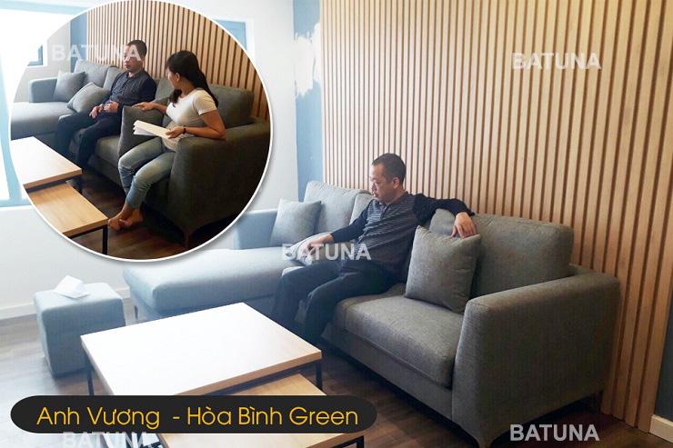Giá bọc nệm ghế sofa anh Vương