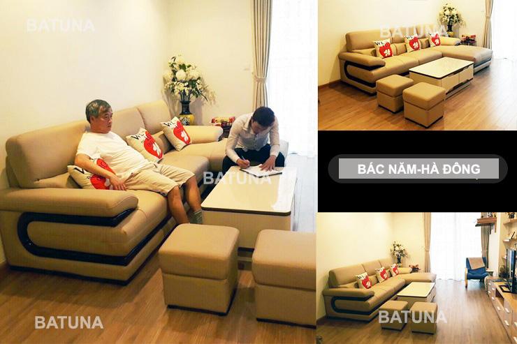 Nệm ghế sofa gia đình bác Năm