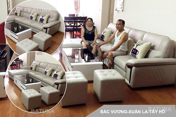 Bọc nệm sofa bác Vương Xuân La Tây Hồ