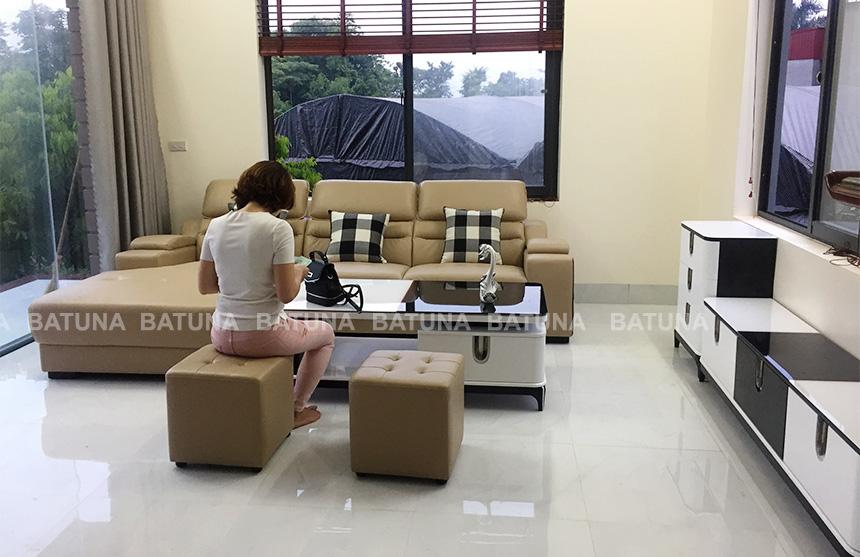 Dịch vụ bọc ghế sofa tại nhà chị Hoa