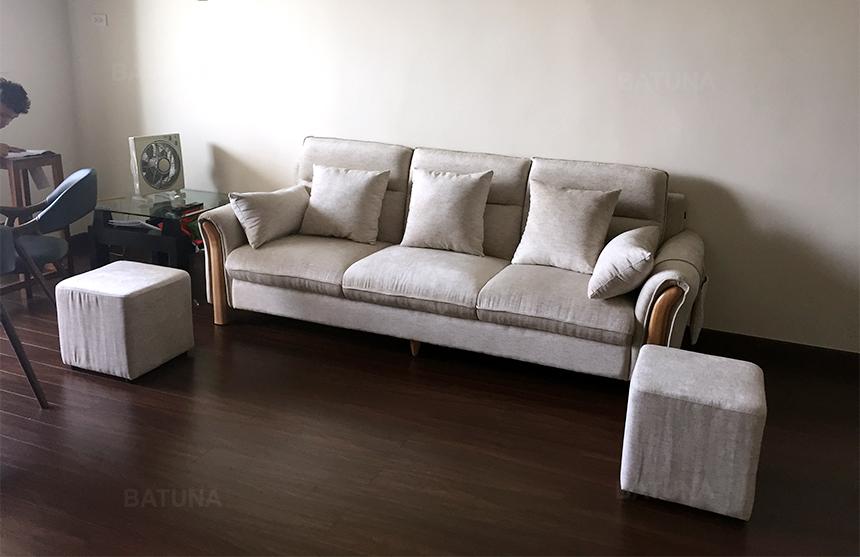 Bọc ghế sofa vải đơn giản không kém phần sang trọng