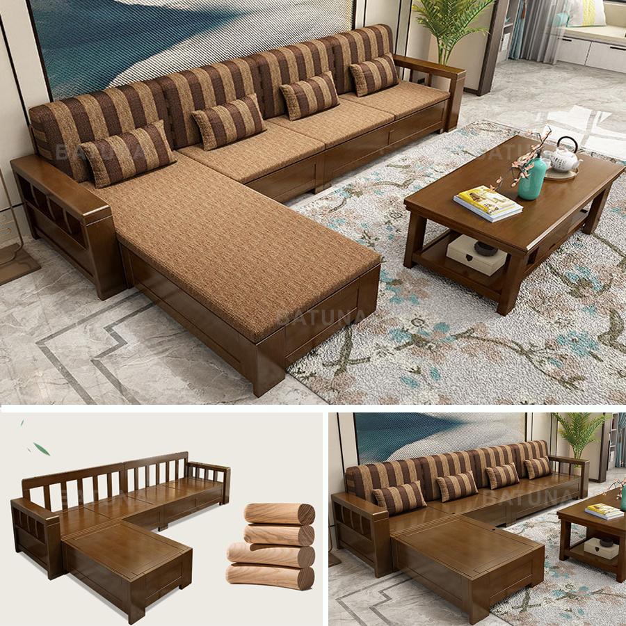 Batuna bán đệm ghế gỗ phòng khách tại Hà Nội
