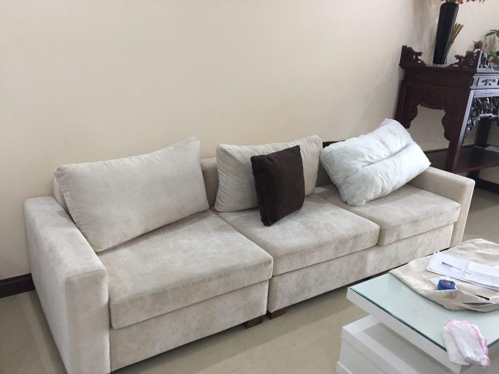 May vỏ đệm ghế hoàn thành tại Hà Nội